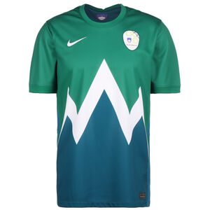 Slowenien Trikot Away Stadium EM 2021 Herren, grün / dunkelblau, zoom bei OUTFITTER Online