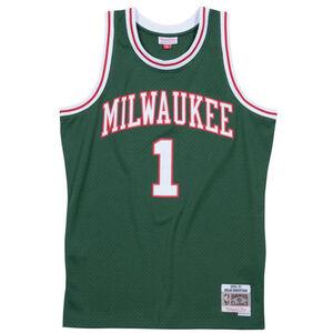 Classic Swingman Milwaukee Bucks #1 Oscar Robertson Basketballtrikot, grün / weiß, zoom bei OUTFITTER Online