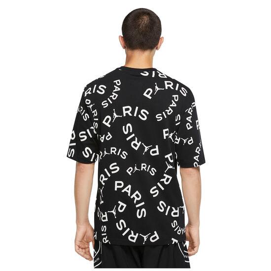 Paris St.-Germain Jock Tag T-Shirt Herren, schwarz / weiß, zoom bei OUTFITTER Online