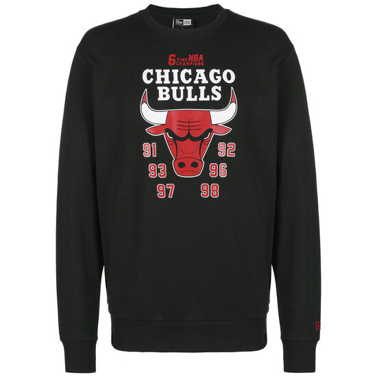 NBA Team Champion Crew Chicago Bulls Sweater, schwarz / rot, zoom bei OUTFITTER Online