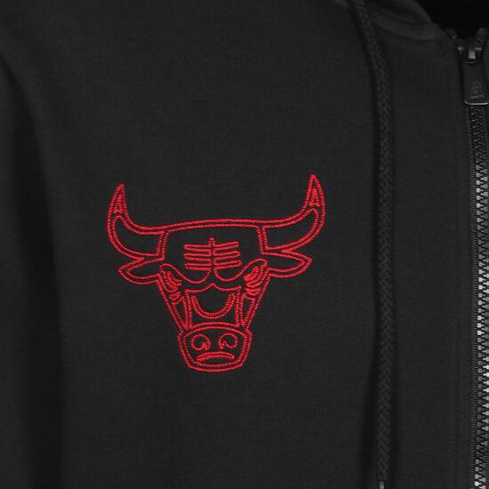 NBA Chicago Bulls Chain Stitch Kapuzenjacke Herren, schwarz / rot, zoom bei OUTFITTER Online