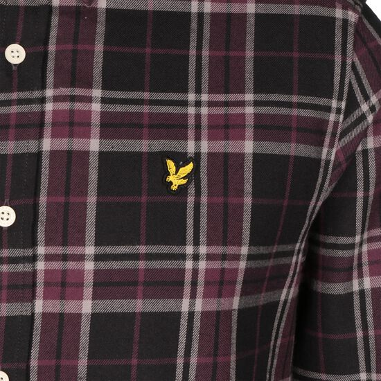 Check Flannel Hemd Herren, schwarz / rot, zoom bei OUTFITTER Online