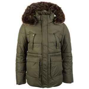 Faux Fur Hooded Winterjacke Herren, oliv, zoom bei OUTFITTER Online