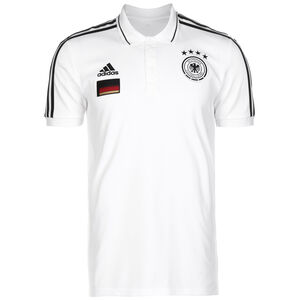 DFB 3-Streifen Poloshirt EM 2021 Herren, weiß / schwarz, zoom bei OUTFITTER Online