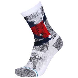 Wintercount Halftone Socken, weiß / rot, zoom bei OUTFITTER Online