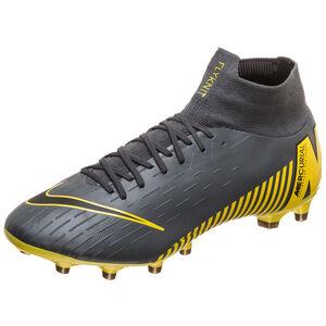 Mercurial Superfly VI Pro AG-Pro Fußballschuh Herren, dunkelgrau / gelb, zoom bei OUTFITTER Online