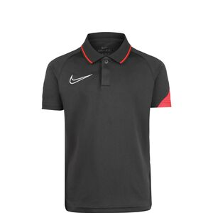 Academy Poloshirt Kinder, anthrazit / neonrot, zoom bei OUTFITTER Online