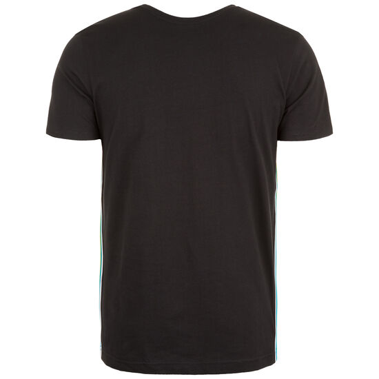 Side Taped T-Shirt Herren, schwarz / bunt, zoom bei OUTFITTER Online