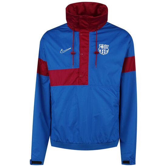 FC Barcelona Anorak Kapuzenjacke Herren, blau / rot, zoom bei OUTFITTER Online