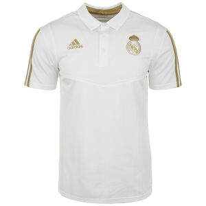 Real Madrid Poloshirt Herren, weiß / gold, zoom bei OUTFITTER Online