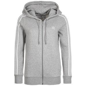 3 Stripes Kapuzenjacke Damen, grau / weiß, zoom bei OUTFITTER Online