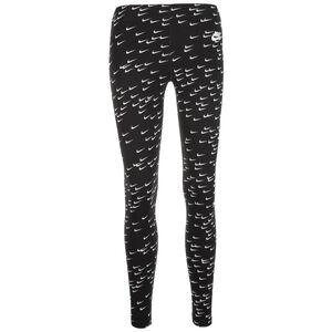 Leg-A-See AOP Swoosh Leggings Damen, schwarz / weiß, zoom bei OUTFITTER Online