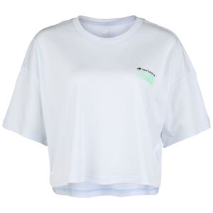 Sport Style Optiks Boxy T-Shirt Damen, hellgrau / grün, zoom bei OUTFITTER Online