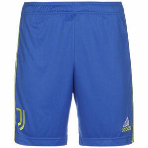 Juventus Turin Shorts 3rd 2021/2022 Herren, blau / neongelb, zoom bei OUTFITTER Online