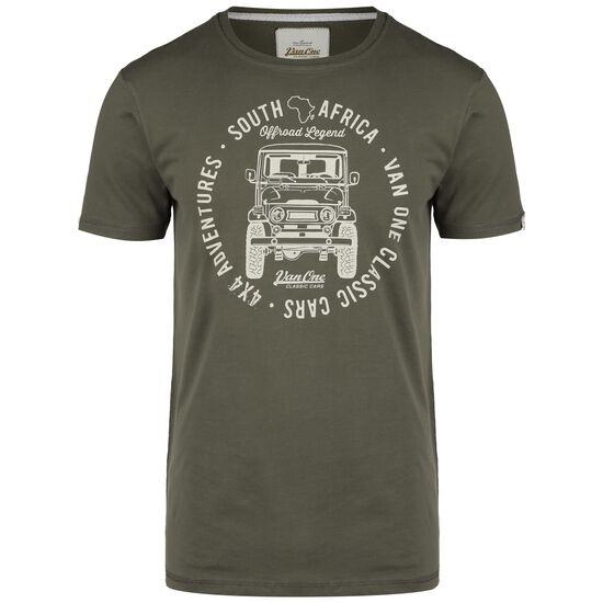 Africa Toyota T-Shirt Herren, oliv / beige, zoom bei OUTFITTER Online
