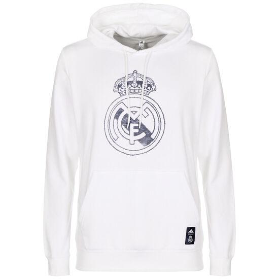 Real Madrid DNA Kapuzenpullover Herren, weiß / blau, zoom bei OUTFITTER Online