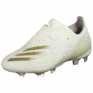 X Ghosted.2 FG Fußballschuh Herren, weiß / gold, zoom bei OUTFITTER Online
