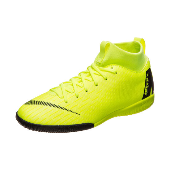 Mercurial SuperflyX VI Academy Indoor Fußballschuh Kinder, neongelb, zoom bei OUTFITTER Online