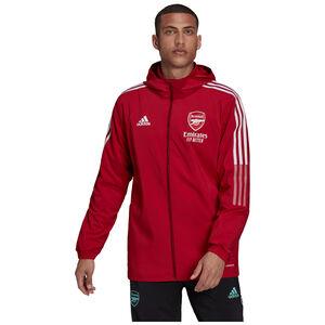 FC Arsenal Präsentationsjacke Herren, rot / weiß, zoom bei OUTFITTER Online