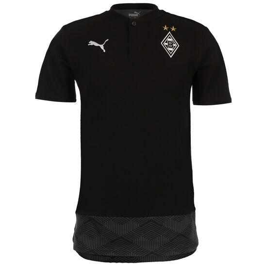 Borussia Mönchengladbach Casuals Poloshirt Herren, schwarz / weiß, zoom bei OUTFITTER Online