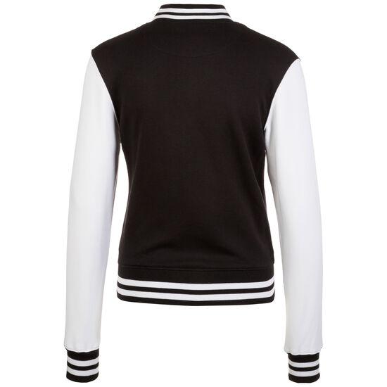 2-tone College Jacke Damen, schwarz / weiß, zoom bei OUTFITTER Online