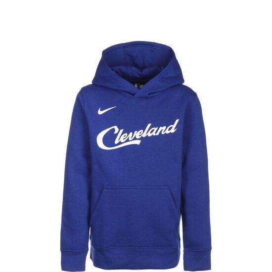 NBA Cleveland Cavaliers City Edition Essentials Logo Hoodie Kinder, dunkelblau / weiß, zoom bei OUTFITTER Online