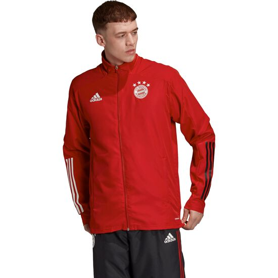 FC Bayern München Präsentationsjacke Herren, rot / schwarz, zoom bei OUTFITTER Online