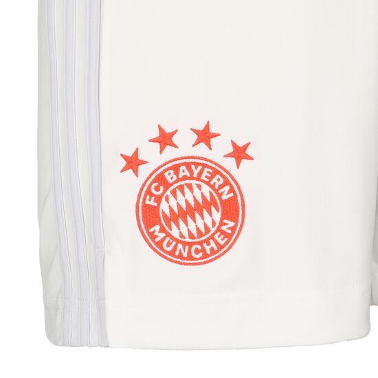 FC Bayern München Short Away 2020/2021 Herren, weiß / rot, zoom bei OUTFITTER Online