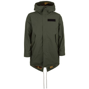 Sherpa Lined Fishtail Parka Herren, oliv, zoom bei OUTFITTER Online