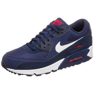 Air Max 90 Essential Sneaker Herren, blau / rot, zoom bei OUTFITTER Online