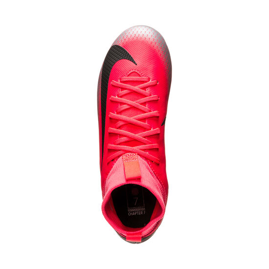 Mercurial Superfly VI CR7 Academy MG Fußballschuh Kinder, neonrot / schwarz, zoom bei OUTFITTER Online