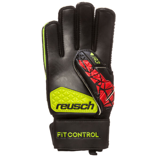Fit Control R3 Torwarthandschuh, schwarz / rot, zoom bei OUTFITTER Online