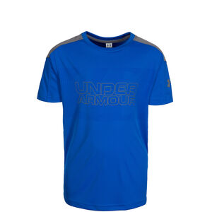 HeatGear Activate Trainingsshirt Kinder, blau / grau, zoom bei OUTFITTER Online
