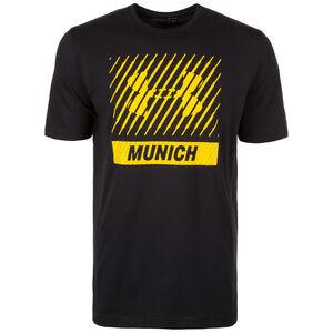 HeatGear Munich Big Logo Trainingsshirt Herren, Schwarz, zoom bei OUTFITTER Online