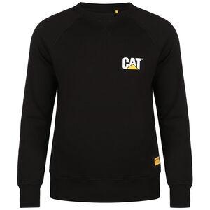 CAT Small Logo Roundneck Sweatshirt Herren, schwarz, zoom bei OUTFITTER Online