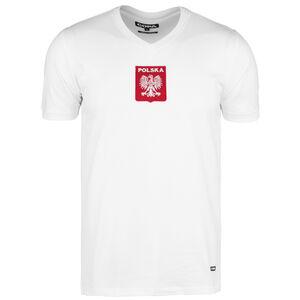 Polen Home 1970s Retro T-Shirt Herren, weiß / rot, zoom bei OUTFITTER Online
