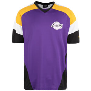 NBA Colour Block Oversized Los Angeles Lakers T-Shirt Herren, lila / gelb, zoom bei OUTFITTER Online
