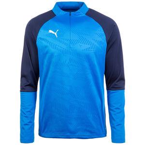 Cup 1/4 Zip Trainingsshirt Herren, blau / dunkelblau, zoom bei OUTFITTER Online