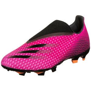 X Ghosted.3 Laceless FG Fußballschuh Herren, pink / schwarz, zoom bei OUTFITTER Online