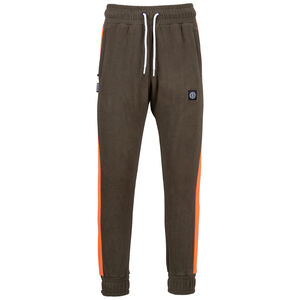 DMWU Patch Fleece Jogginghose Herren, oliv / orange, zoom bei OUTFITTER Online