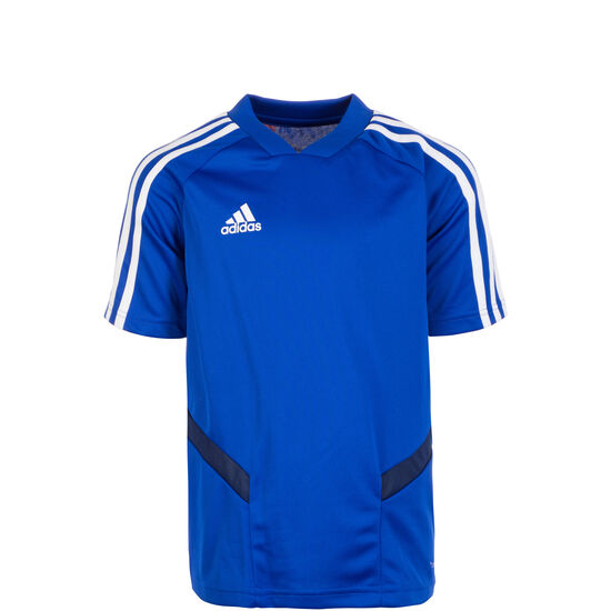Tiro 19 Trainingsshirt Kinder, blau / weiß, zoom bei OUTFITTER Online