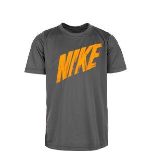 Dry Trainingsshirt Kinder, dunkelgrau / orange, zoom bei OUTFITTER Online