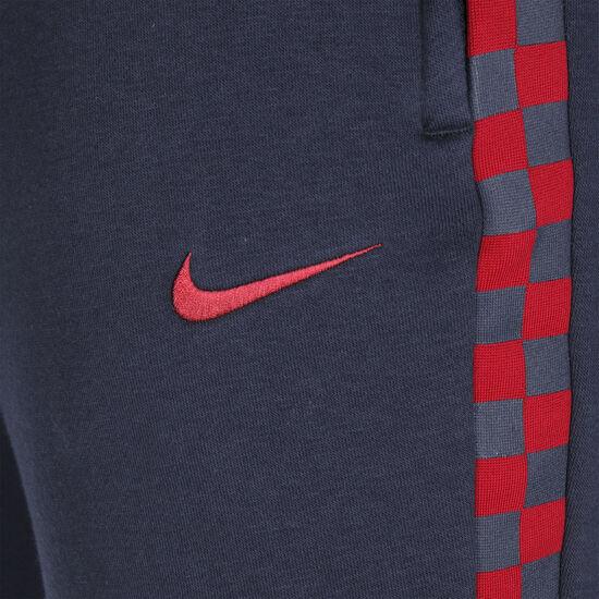 FC Barcelona Fleece Trainingshose Herren, dunkelblau / rot, zoom bei OUTFITTER Online