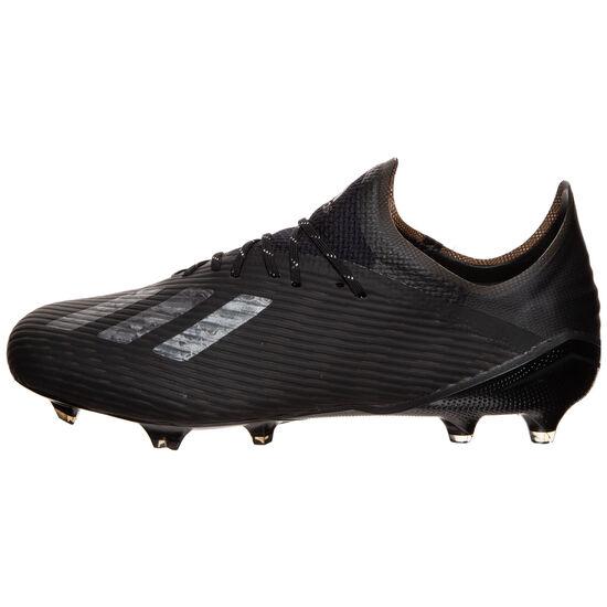 X 19.1 FG Fußballschuh Herren, schwarz / silber, zoom bei OUTFITTER Online