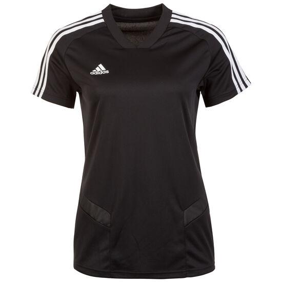 Tiro 19 Trainingsshirt Damen, schwarz / weiß, zoom bei OUTFITTER Online