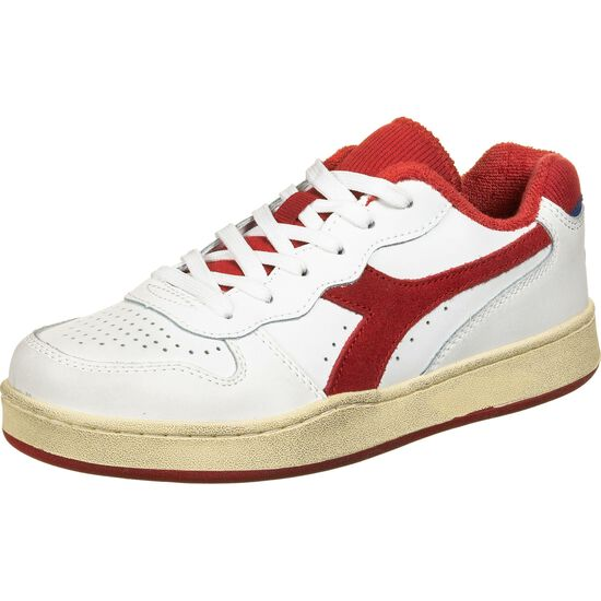 Basket MI Low Used Sneaker, weiß / rot, zoom bei OUTFITTER Online