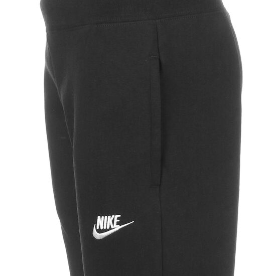 Club French Terry Jogginghose Kinder, schwarz / weiß, zoom bei OUTFITTER Online