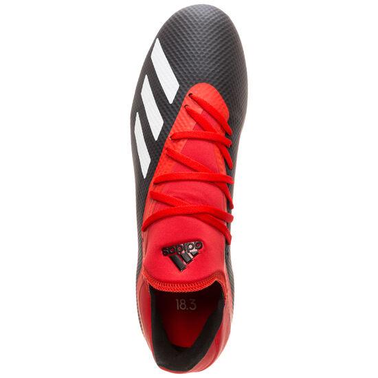 X 18.3 AG Fußballschuh Herren, schwarz / rot, zoom bei OUTFITTER Online