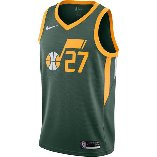 NBA Utah Jazz #27 Gobert Basketballtrikot Herren, grün / gelb, zoom bei OUTFITTER Online