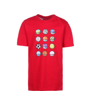 Pokémon T-Shirt Kinder, rot, zoom bei OUTFITTER Online